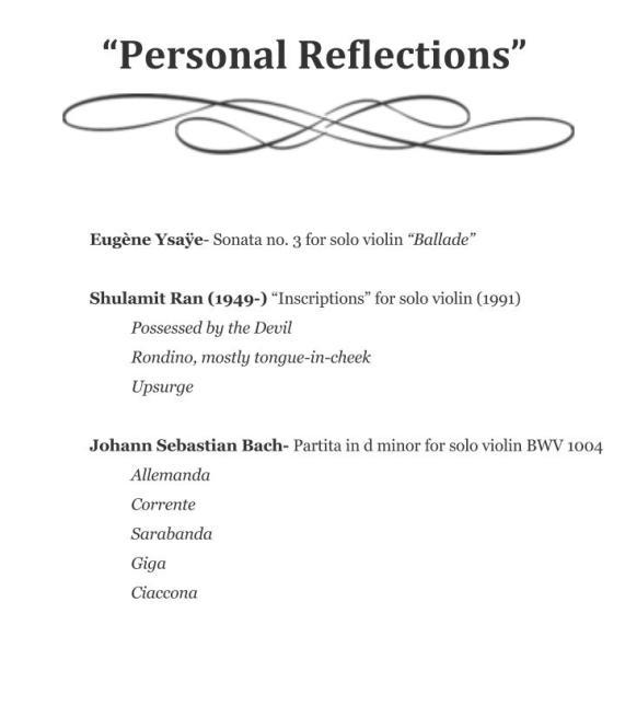 Personal Reflections program